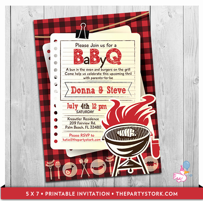 Baby Shower Bbq Invitation Fresh Bbq Baby Shower Invitation Baby Q Invitations Printable