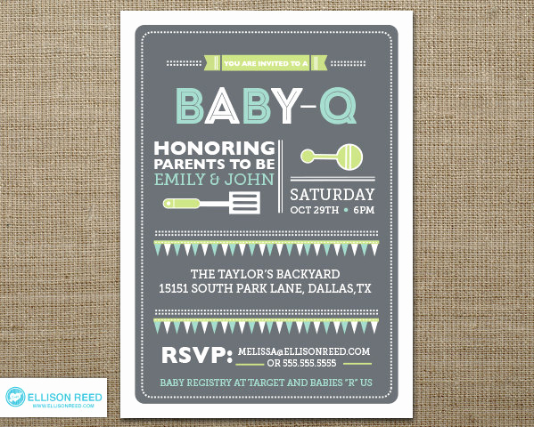 Baby Shower Bbq Invitation Fresh Bbq Baby Shower Invitation Baby Q Shower Bbq Inviation