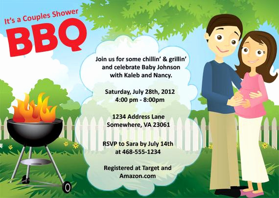Baby Shower Bbq Invitation Fresh Couples Baby Shower Bbq Invitation