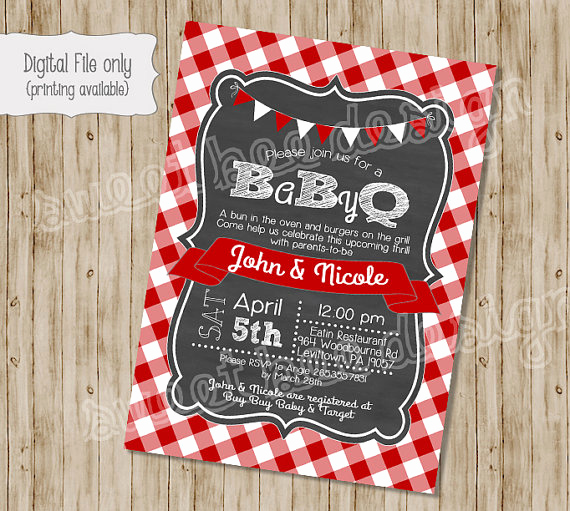 Baby Shower Bbq Invitation Inspirational Baby Shower Barbeque On Pinterest