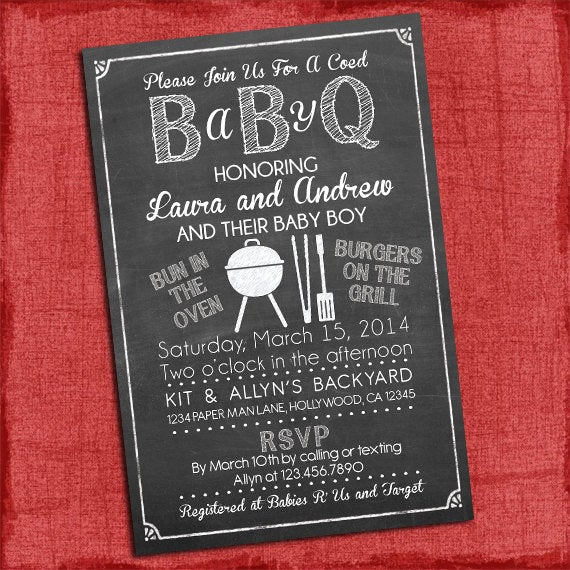 Baby Shower Bbq Invitation Lovely Baby Q Shower Invitation Bbq Baby Shower Babyq Barbecue