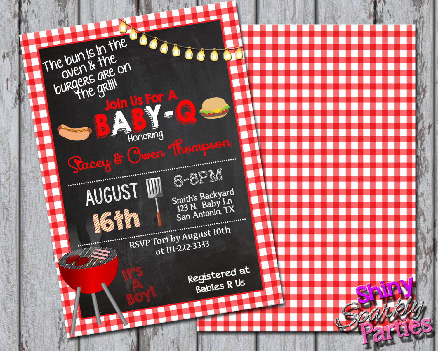 Baby Shower Bbq Invitation Lovely Baby Q Shower Invitations Bbq Baby Shower