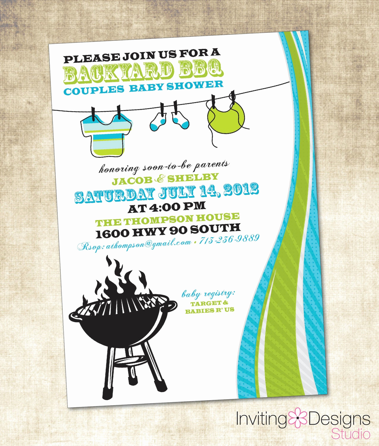 Baby Shower Bbq Invitation Lovely Baby Shower Invitation Bbq Baby Shower by Invitingdesignstudio