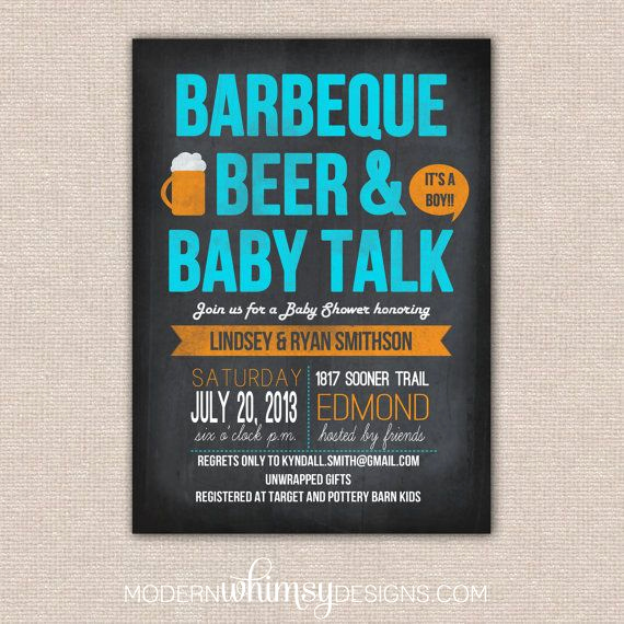 Baby Shower Bbq Invitation Lovely Bbq Baby Shower Bbq Beer and Baby Talk theme Party