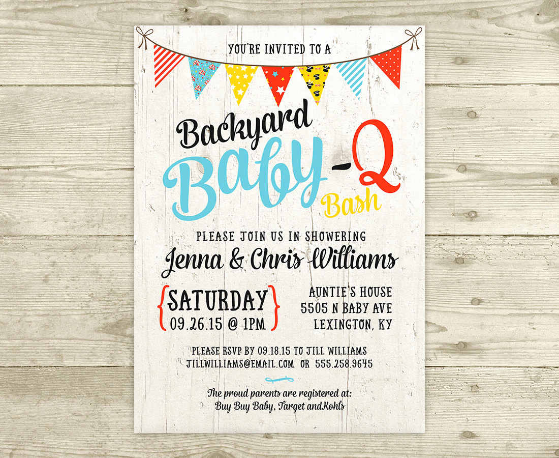 Baby Shower Bbq Invitation Unique Co Ed Baby Shower Invitation Bbq Baby Q