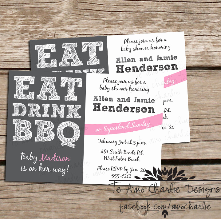 Baby Shower Bbq Invitation Unique Printable Eat Drink Bbq Baby Shower Invitations by