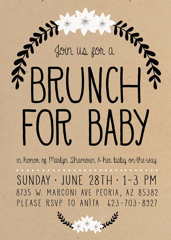 Baby Shower Brunch Invitation Beautiful 25 Best Ideas About Baby Shower Brunch On Pinterest
