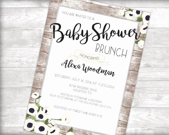 Baby Shower Brunch Invitation Elegant Baby Shower Brunch Invitation Printable