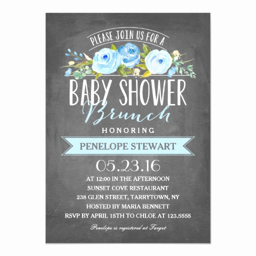 Baby Shower Brunch Invitation Fresh Baby Shower Brunch Blue Baby Shower Invitation