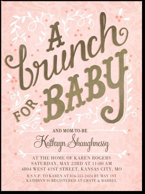 Baby Shower Brunch Invitation Inspirational Pin by Emma Mittendorf On Baby Shower