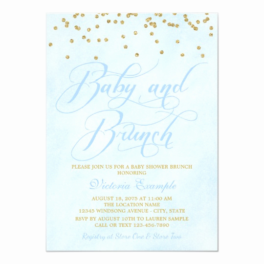 Baby Shower Brunch Invitation Luxury Boy Baby Brunch Baby Shower Invitations