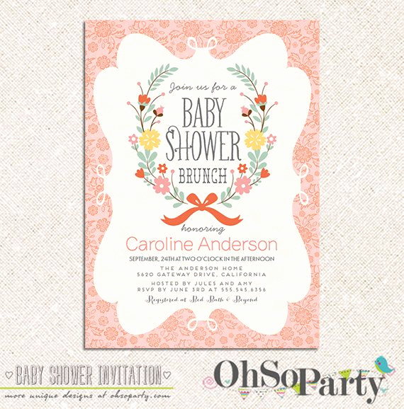 Baby Shower Brunch Invitation New Petite Brunch Custom Printable Baby Shower Brunch