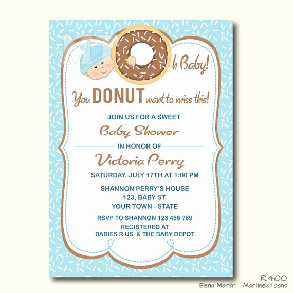 Baby Shower Brunch Invitation Wording Best Of Items Similar to Donut Baby Shower Invitation Boy Baby