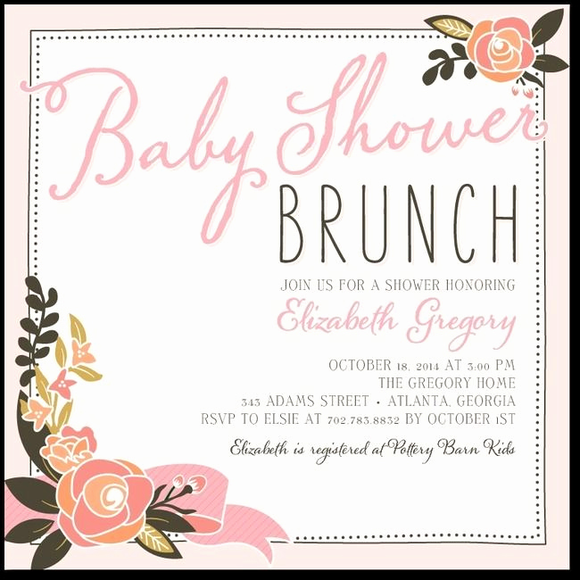 Baby Shower Brunch Invitation Wording New Blooming Brunch From Tiny Prints Baby Shower Invites
