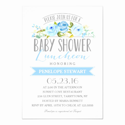 Baby Shower Brunch Invitation Wording Unique Baby Shower Luncheon Blue Baby Shower Invitation