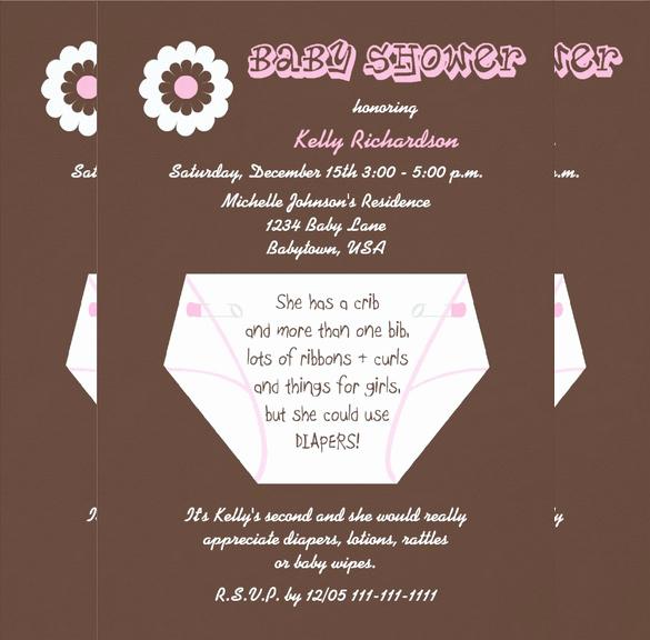 Baby Shower Diaper Invitation Template Fresh 35 Diaper Invitation Templates – Psd Vector Eps Ai