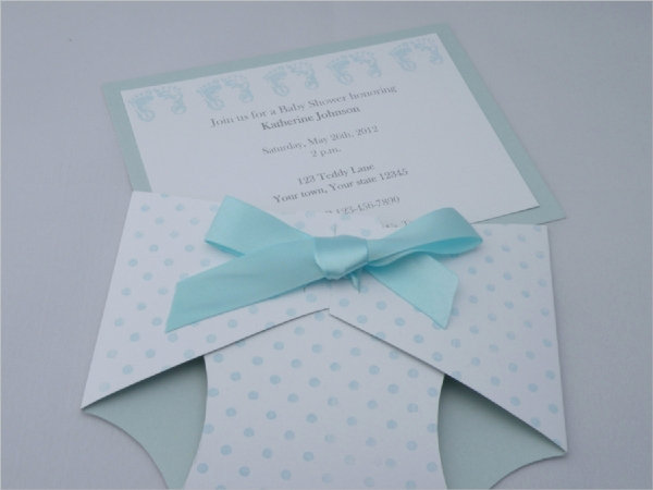 Baby Shower Diaper Invitation Templates Awesome 13 Sample Diaper Invitations Psd Vector Eps