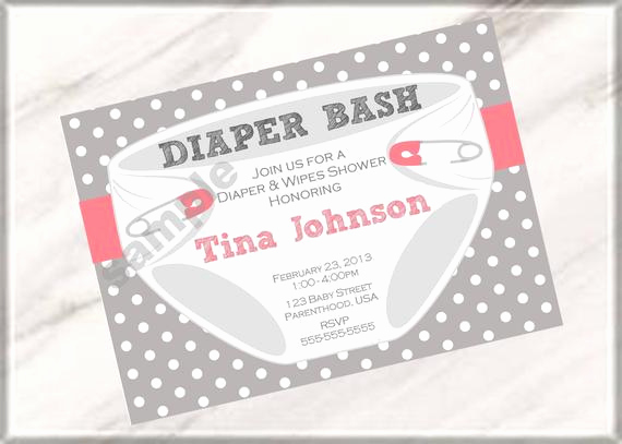 Baby Shower Diaper Invitation Templates Fresh Unavailable Listing On Etsy