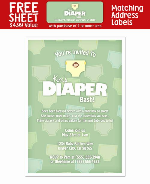 Baby Shower Diaper Invitation Templates Unique 8 Diaper Party Shower Invitations