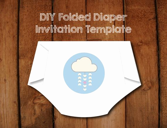 Baby Shower Diaper Invitation Templates Unique Items Similar to Diy Diaper Invitation Templates with