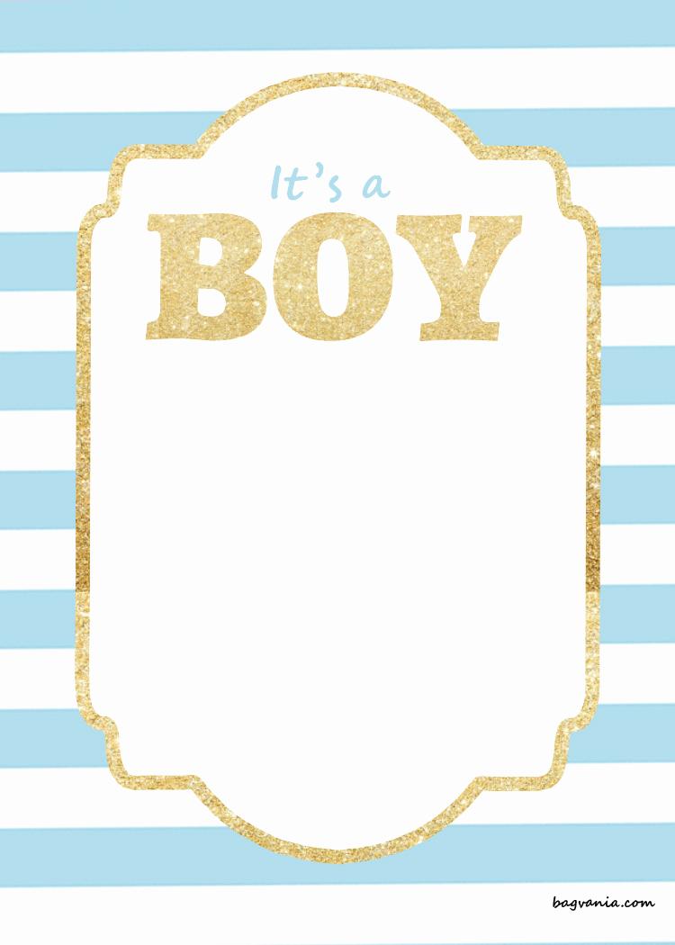 Baby Shower Invitation Border Elegant Free Printable Baby Shower Invitations – Glitter Gold