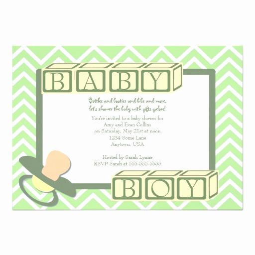 "Baby Shower Invitation Border Elegant Green Chevron Border Baby Shower Invitation 5"" X 7"