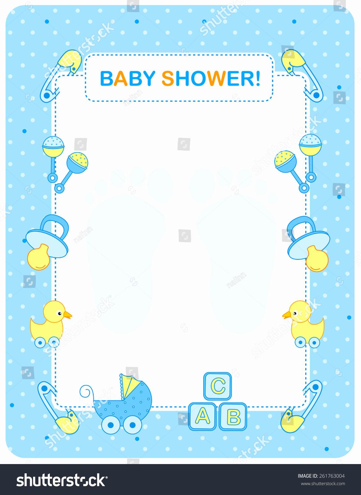 Baby Shower Invitation Border Elegant Illustration Baby Shower Invitation Card Border Stock
