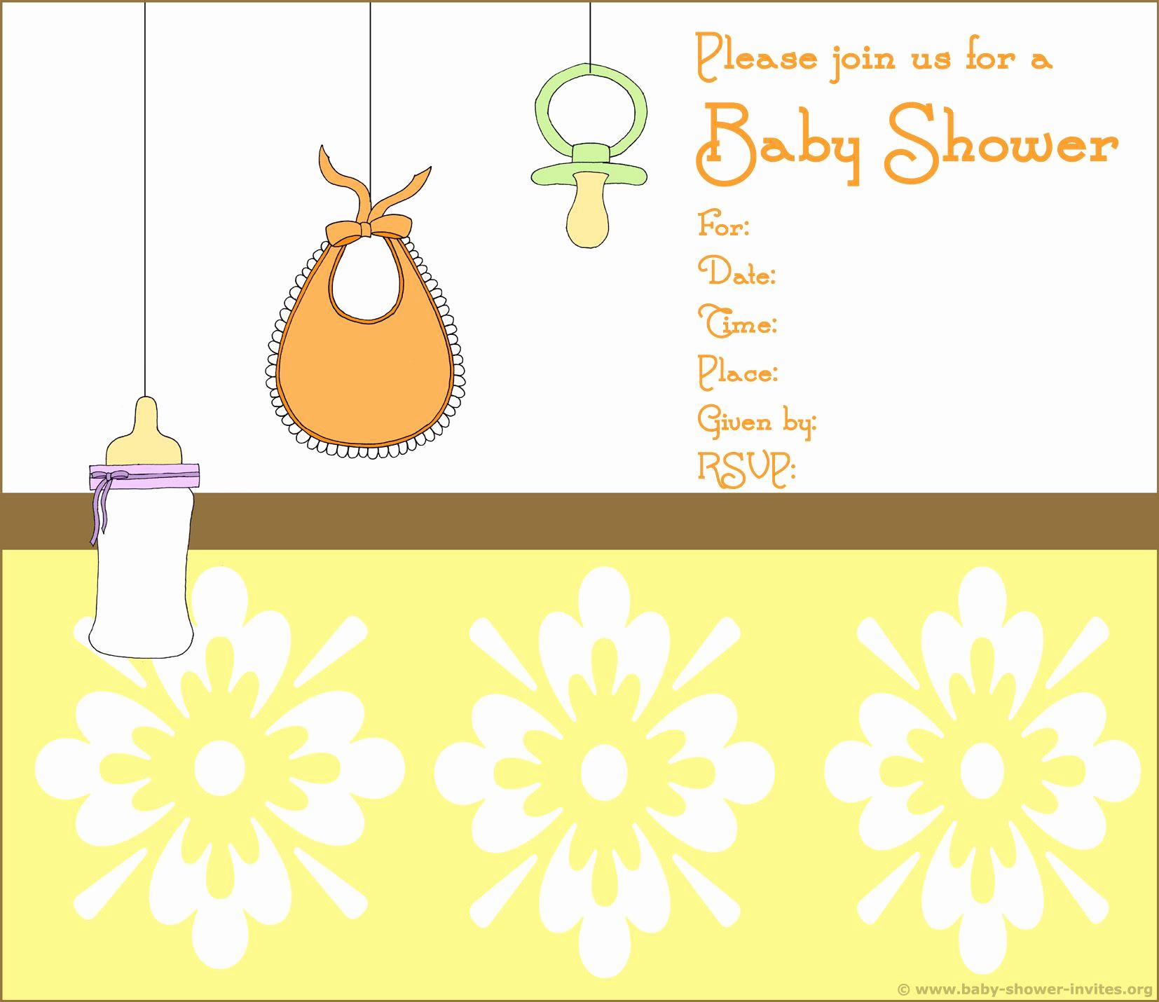 Baby Shower Invitation Border Inspirational Printable Baby Shower Invitations Free Printable Bee