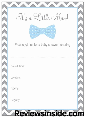 Baby Shower Invitation Borders Beautiful 24 Cnt Little Man Bow Tie Baby Shower Fill In Invitations