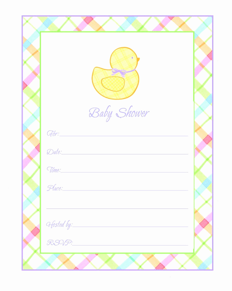 Baby Shower Invitation Borders Lovely Baby Shower Multicolored Invitations