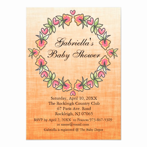 Baby Shower Invitation Borders Luxury Flower Wreath Border Baby Shower Invitation