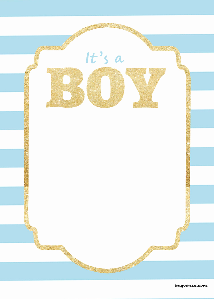 Baby Shower Invitation Borders Luxury Free Printable Baby Shower Invitations – Glitter Gold