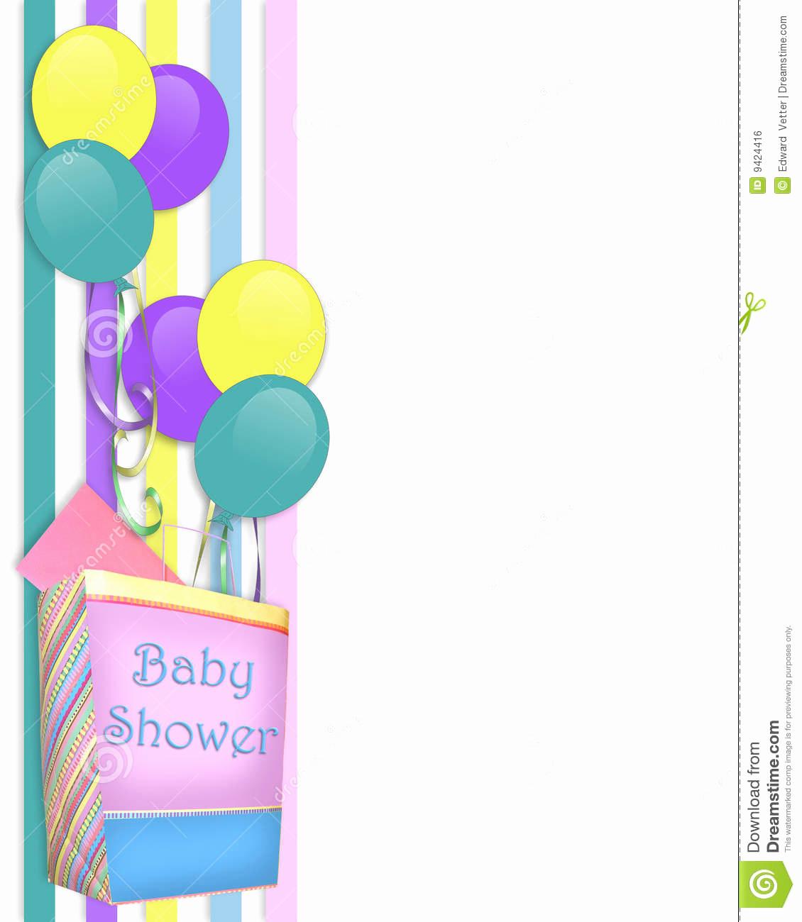 Baby Shower Invitation Borders Luxury Invitation Borders Clipart