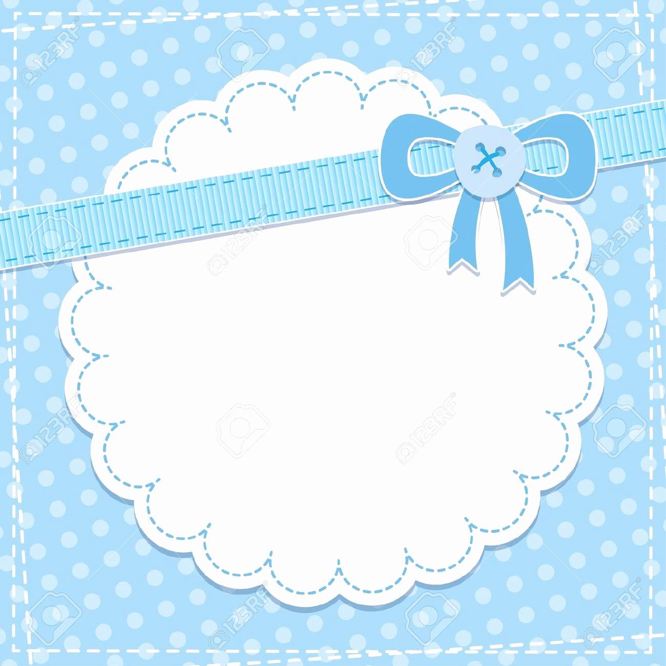 Baby Shower Invitation Borders New Baby Shower Invitation Stock Royalty