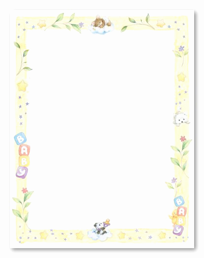 Baby Shower Invitation Borders New Borders Baby Shower Invitation