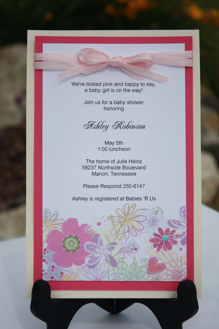 Baby Shower Invitation Card Ideas Awesome 27 Best Images About Anniversary Invitations On Pinterest
