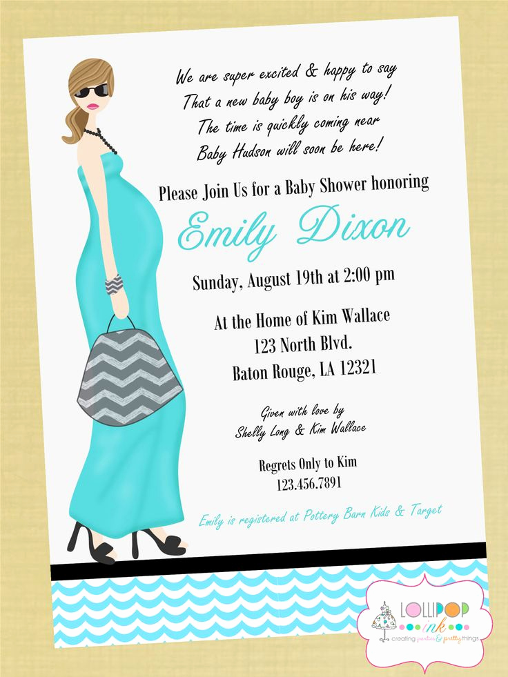 Baby Shower Invitation Card Ideas Elegant 10 Best Images About Simple Design Baby Shower Invitations