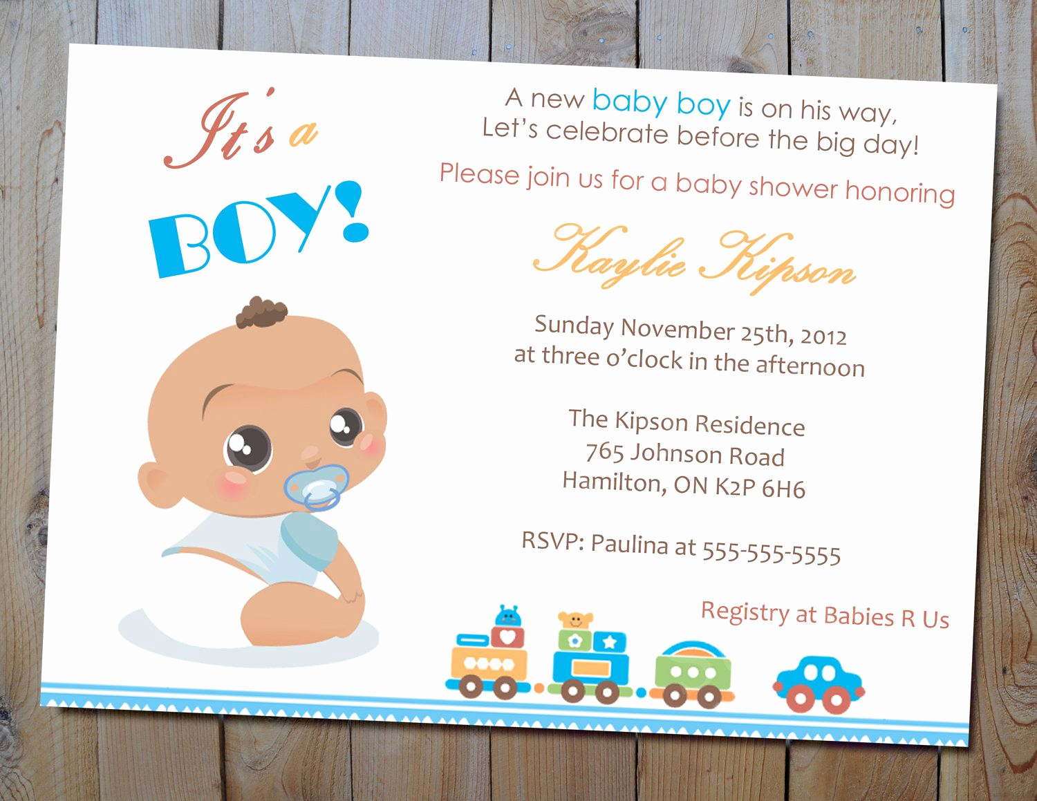 Baby Shower Invitation Card Ideas Fresh Baby Boy Shower Invitation