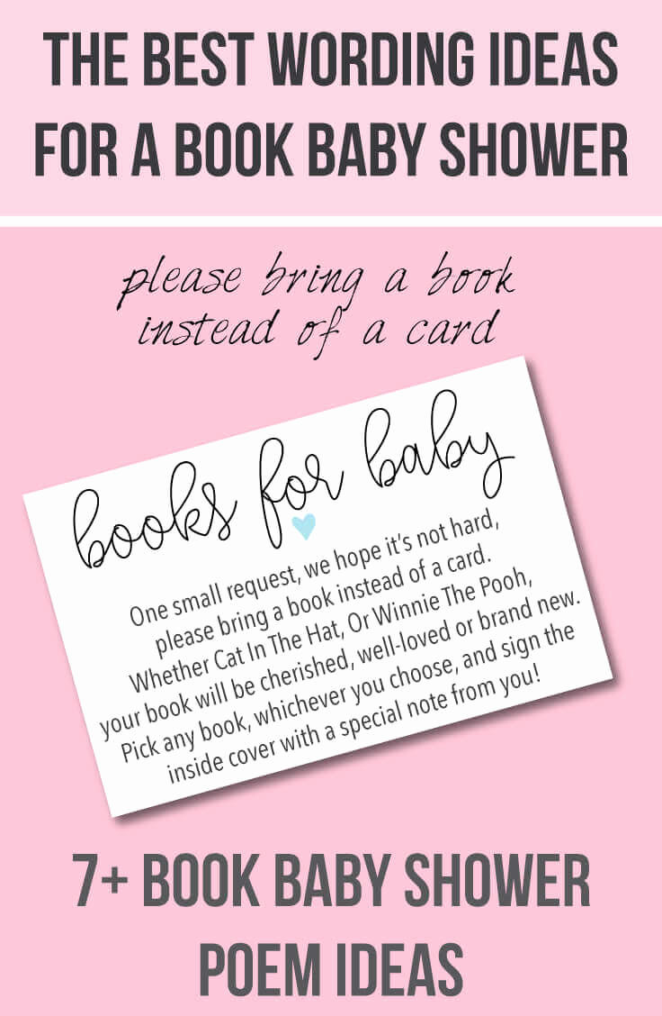 "Baby Shower Invitation Card Ideas Inspirational 9 ""bring A Book Instead Of A Card"" Baby Shower Invitation"
