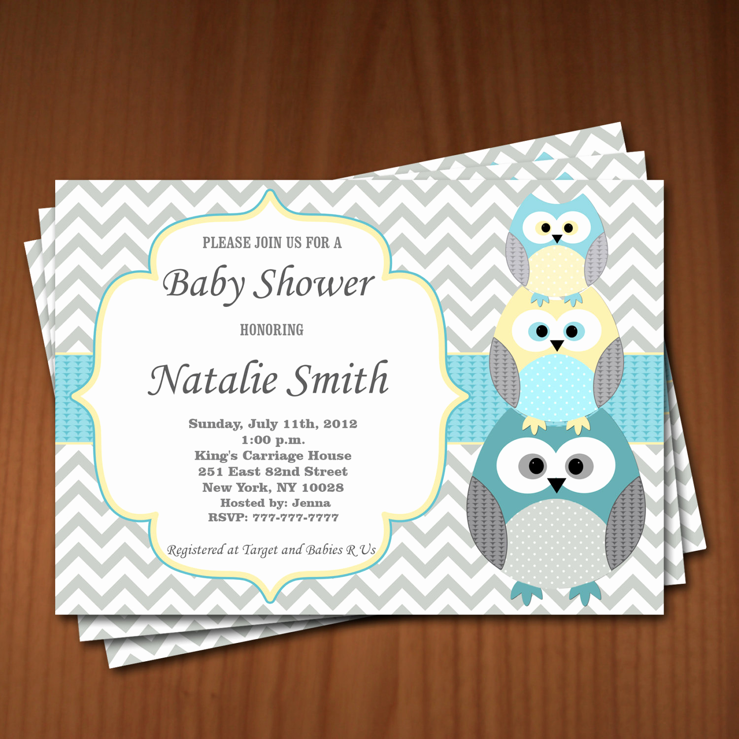 Baby Shower Invitation Card Ideas New Owl Baby Shower Invitation Owl Gender Neutral Baby Shower