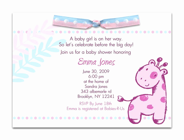 Baby Shower Invitation Card Ideas Unique 10 Best Simple Design Baby Shower Invitations Wording