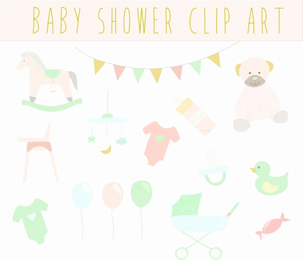 Baby Shower Invitation Clip Art Unique Baby Shower Vintage Clip Art Clipart Baby Shower Clipart