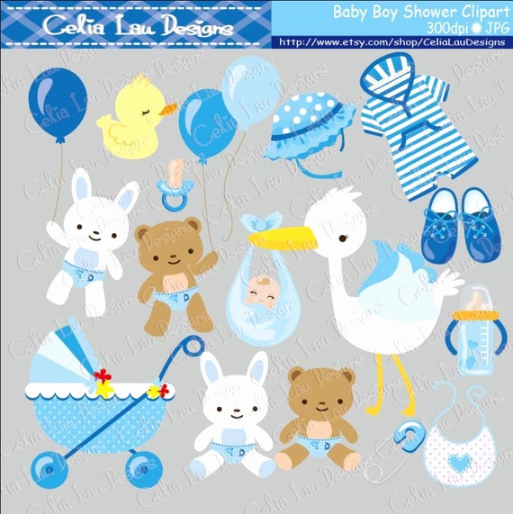 Baby Shower Invitation Clipart Best Of Baby Boy Clipart Boy Baby Shower Digital Clip Art Set