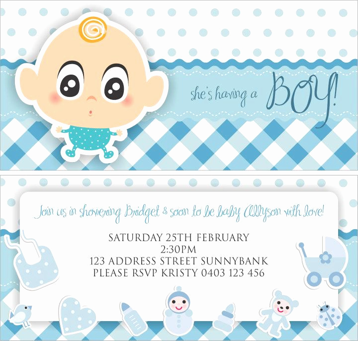 Baby Shower Invitation Clipart Inspirational 31 Cute Boy Baby Shower Invitations