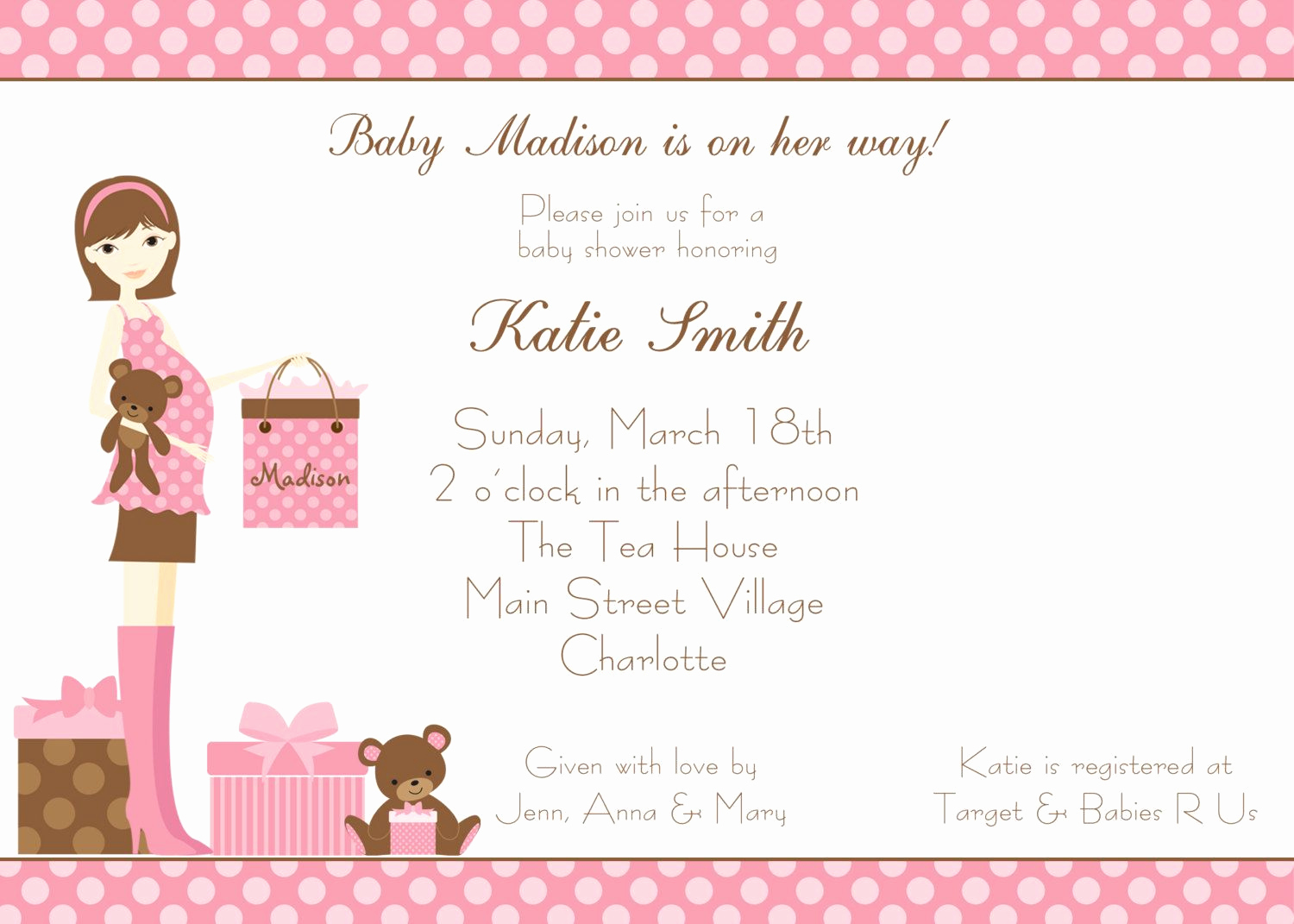 Baby Shower Invitation Example Awesome Baptism Invitations Free Baptism Invitation Template