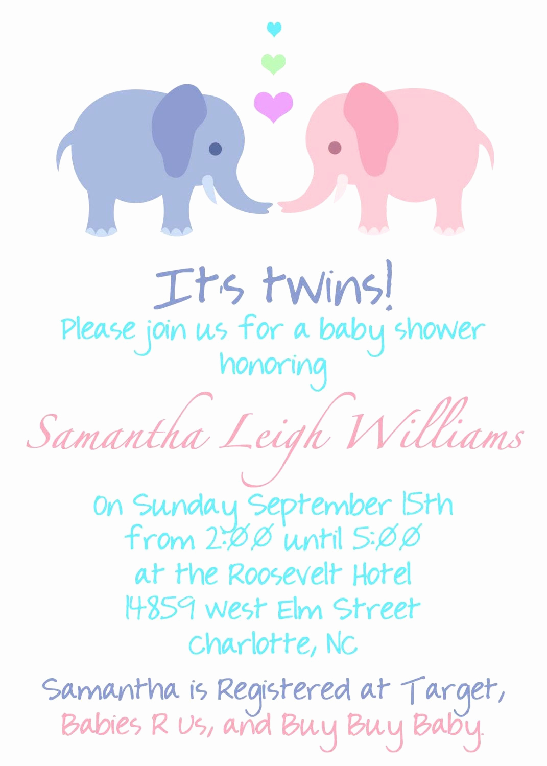 Baby Shower Invitation Example Elegant Twin Pregnancy Announcement Wording