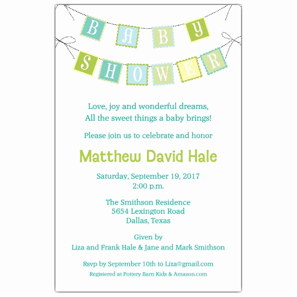 Baby Shower Invitation Example Unique Baby Shower Banner Blue Invitations