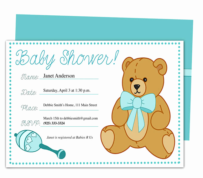 Baby Shower Invitation Examples Awesome Baby Shower Invitation Templates Word