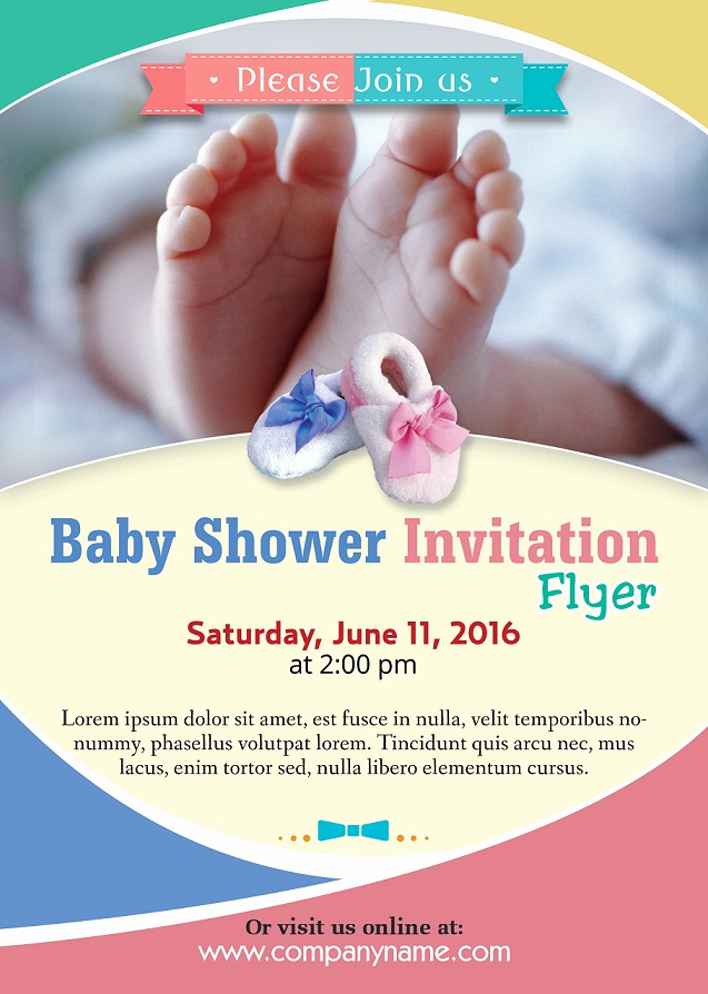 Baby Shower Invitation Examples Beautiful Baby Shower Flyer Template Shop Version Free