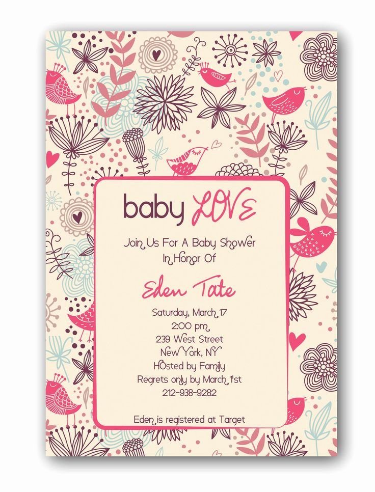 Baby Shower Invitation Examples Inspirational 33 Best Baby Shower Ideas Images On Pinterest